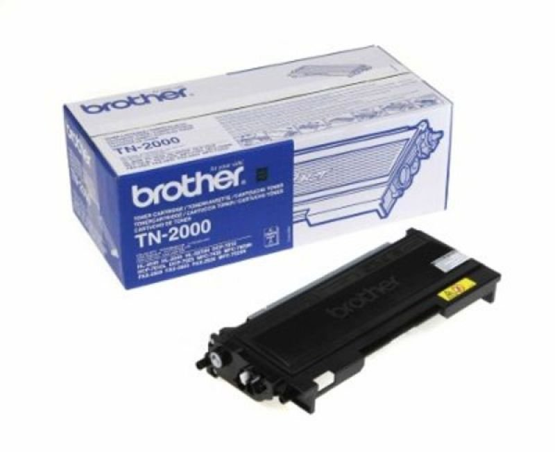 Brother TN-2000 Black Toner Cartridge - 2,500 Pages