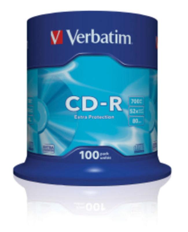 Verbatim 52x CD-R Discs - 100 Pack Spindle