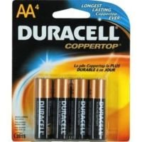 Duracell Coppertop AA Alkaline Batteries - 4 Pack
