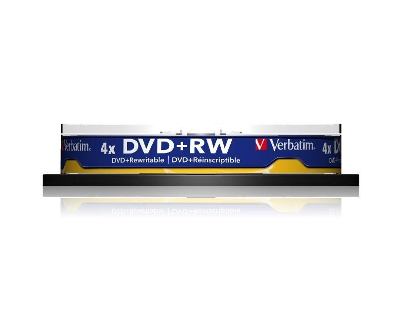 Verbatim 4x DVD+RW Discs - 10 Pack Spindle