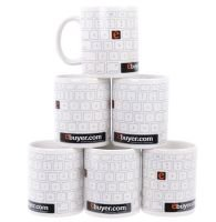 Ebuyer Keyboard Design 11oz Mug 6 Pack