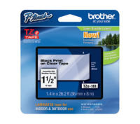 Brother TZe 161 Laminated tape- Black on Clear
