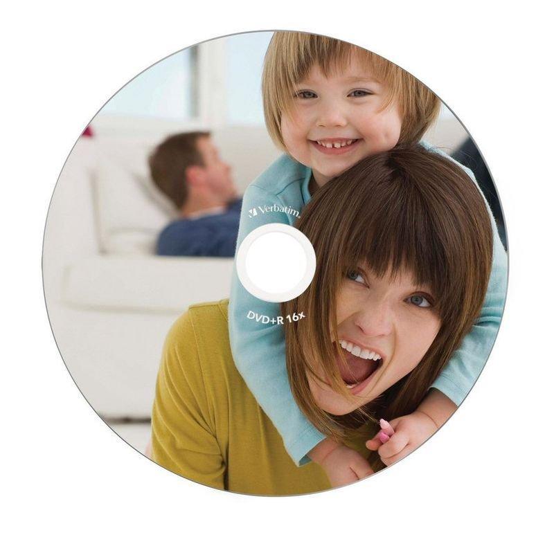 Verbatim 16x DVD-R Inkjet Printable Discs - 10 Pack