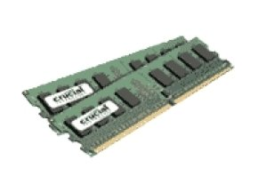 Crucial 4GB Kit (2x2GB) DDR2 800MHz/PC2-6400 Memory CL6 1.8V