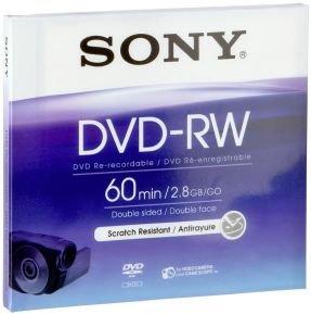 Sony 8cm 2.8GB DVD-RW - Single Pack Jewel Case