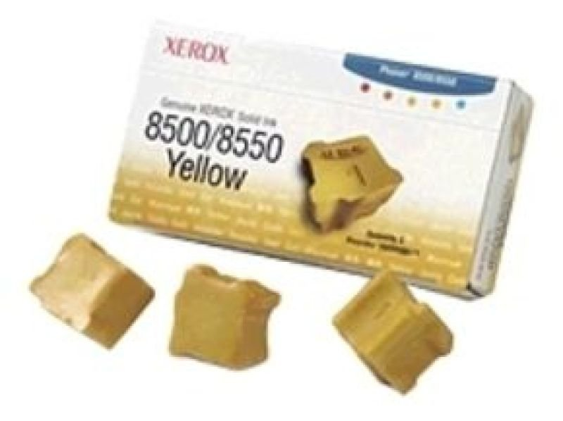 Ink Cartridge Yellow Solid 3pcs - F/ Phaser 8500/8550 Ns