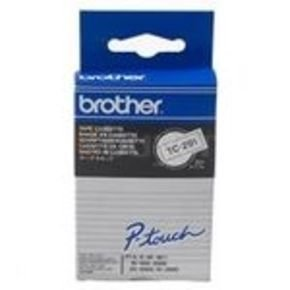 Brother 9mm Black On White Gloss Labelling Tape    Tc291