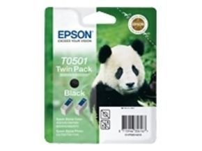 Epson T0501 Twin Pack - Print cartridge - 2 x black