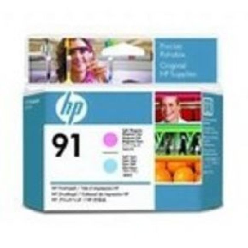 HP 91 Light Cyan & Light MagentaOriginalDesignJet Printhead For use with - HP DesignJet Z6100's - C9462A
