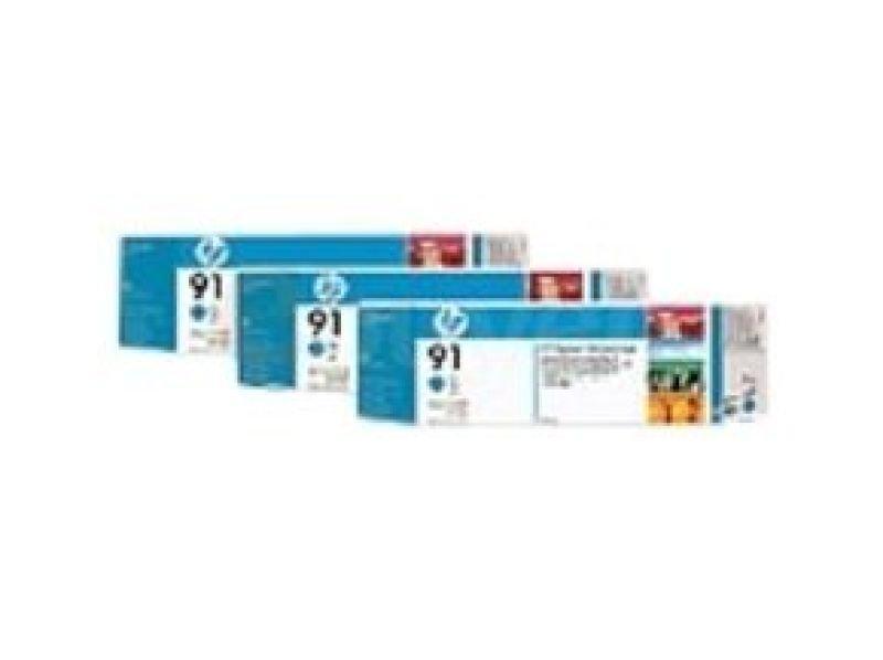 HP 91 775ml Cyan Ink Cartridge - 3 Pack