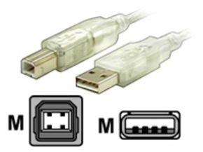 Startech USB Device Cable (Transparent) 3m /10ft