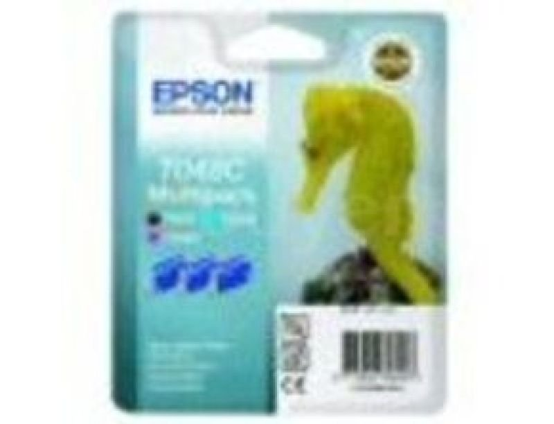 Epson T048 39ml Multi Ink Cartridge Pack (Black, Cyan and Magenta) 430 Pages