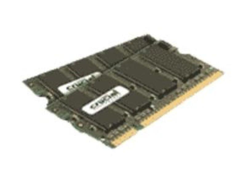 Image of Crucial CT2KIT25664AC667 4GB Kit DDR2 667MHz/PC2-5300 Laptop Memory SODIMM Non-ECC CL5 1.8V