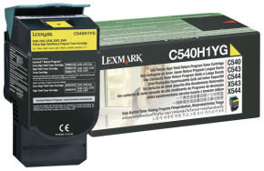 Lexmark C540 High Yield Yellow Toner - 2000 Pages