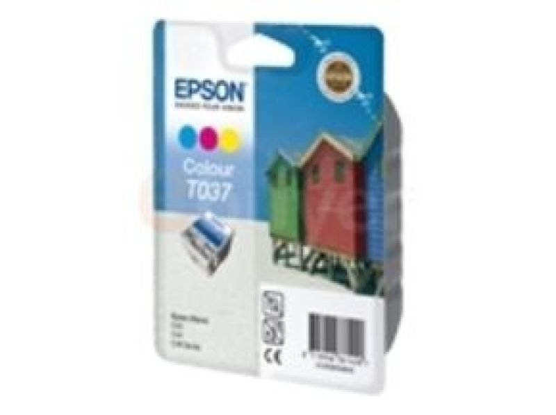 Epson T037 - Print cartridge - 1 x colour (cyan, magenta, yellow) - 180 pages