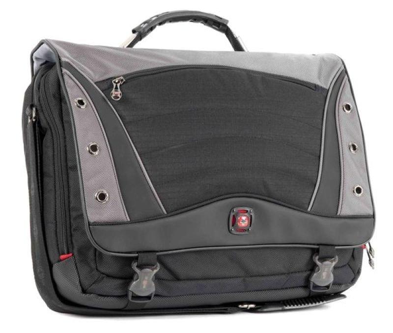 """Image of Wenger Swissgear Saturn Messenger Bag - For Laptops up to 17"""" - Black + Grey"""