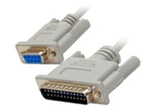 Startech Serial Null Modem Cable DB-9 (F) To DB-25 (M) - 3 m