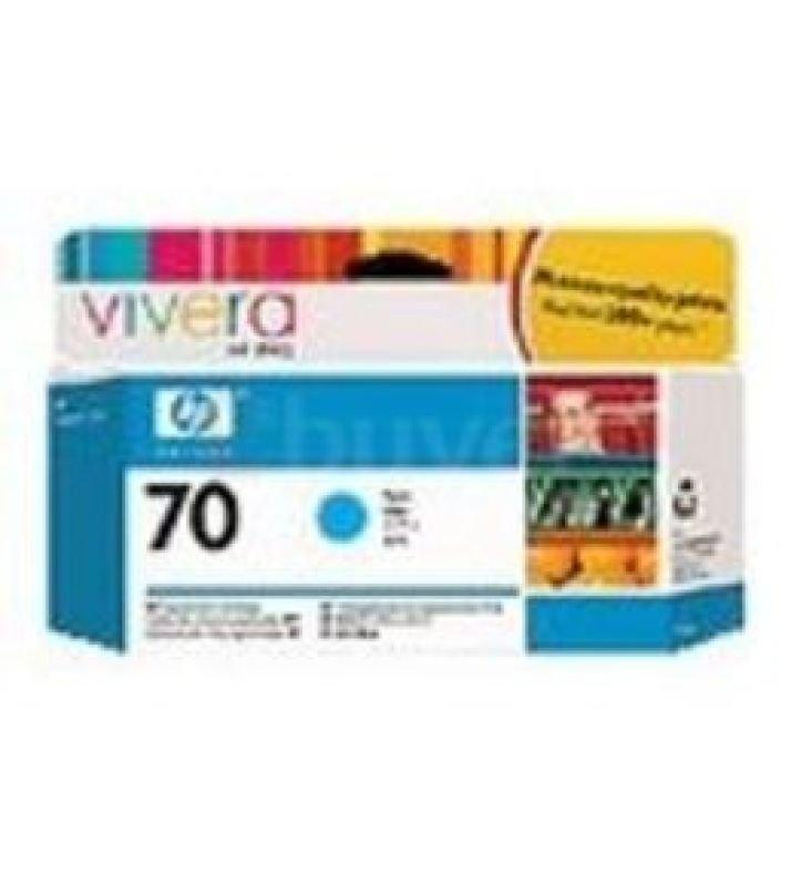 HP 70 Cyan Original Ink Cartridge - Standard Yield 130ml - C9452A