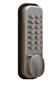 Securikey Lockit Mechanical Push Button Digital Lock - Chrome