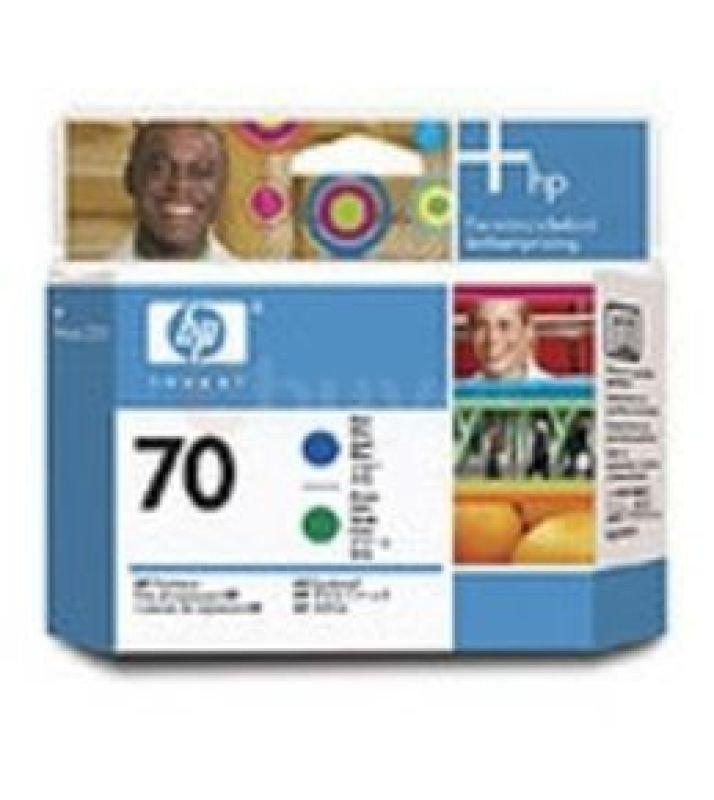 HP 70 Blue and Green Printhead  C9408A