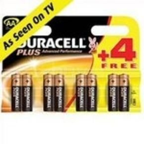 Duracell Plus AA Batteries - 4+4 (8Pack)