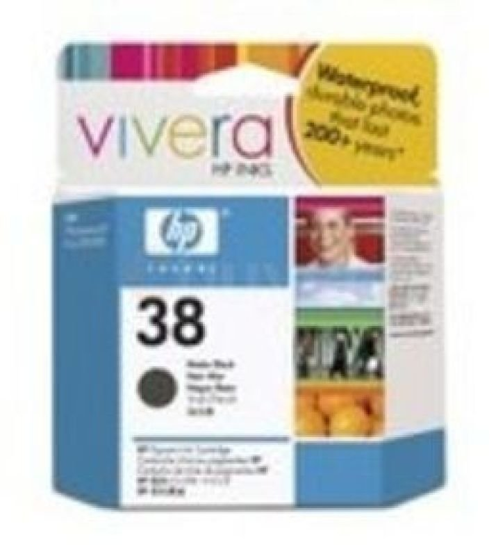 HP 38 27ml Pigmented Matte Black Ink Cartridge  C9412A
