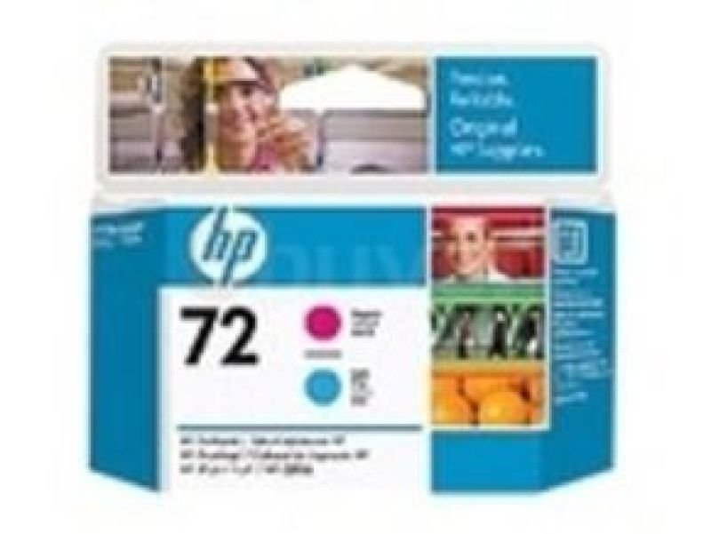 HP 72 Magenta & Cyan OriginalDesignJet Printhead For use with - T1100, T1120, T1200 - C9383A