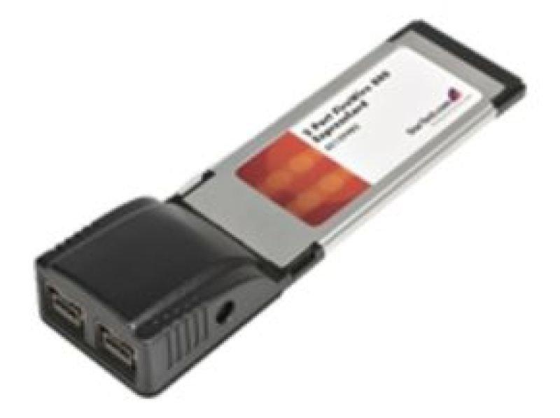 Startch 2 Port ExpressCard 1394b FireWire 800 Laptop Adapter Card