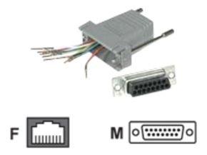 C2G, RJ45/DB1Modular Adapter Grey