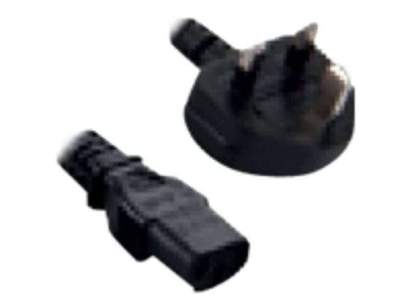 Image of V7 POWER CABLE UK COMPUTER 2M - BLACK UK PLUG TO IEC-C13 M/M