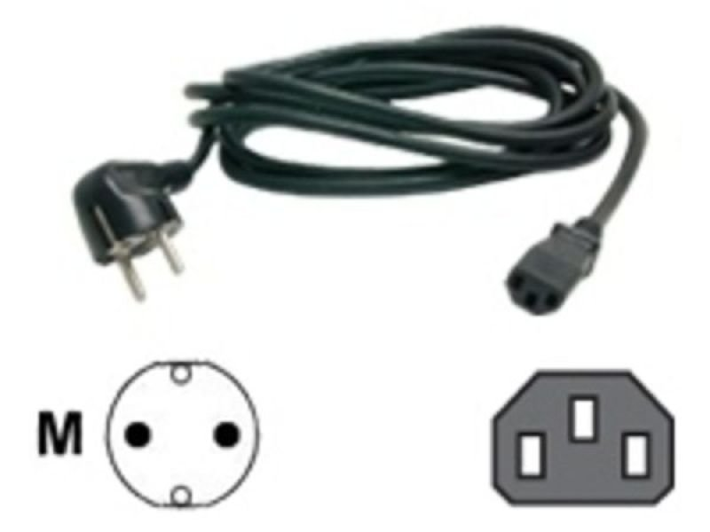 Image of StarTech PXT101EUR 6 ft 2 Prong European Power Cord for PC Computers