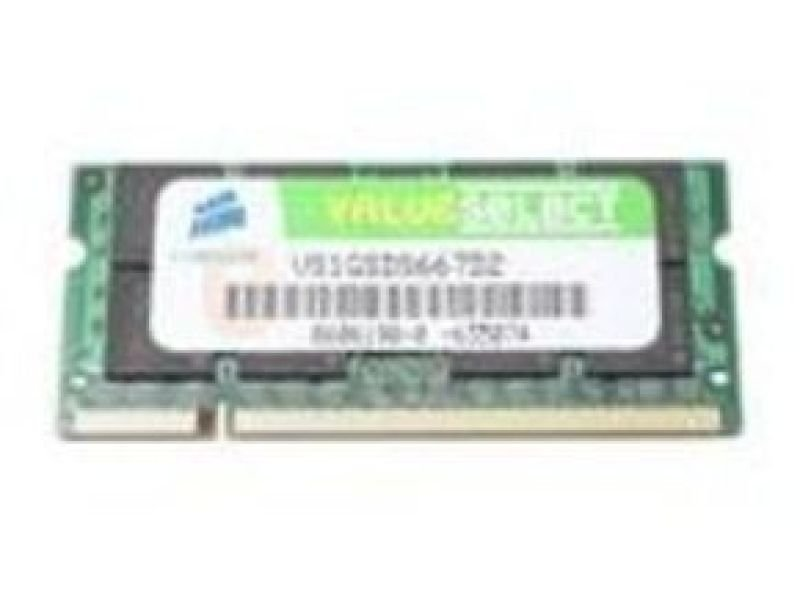 Corsair 1GB DDR2 667MHzPC25300 Laptop Memory Sodimm NonECC Unbuffered CL5 Lifetime Warranty