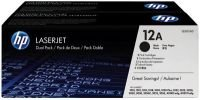 HP 12A Black Dual Pack Toner - Q2612AD
