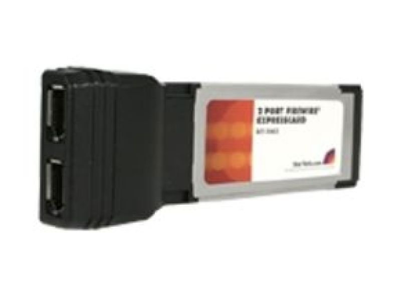 Startech 2 Port ExpressCard Laptop 1394a Firewire Adapter Card