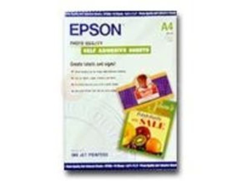 Epson White Photo Paper Self-Adhesive 167gsm (Pack of 10)