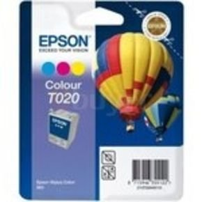 Epson T020 - Print cartridge - 1 x colour (cyan, magenta, yellow) - 300 pages