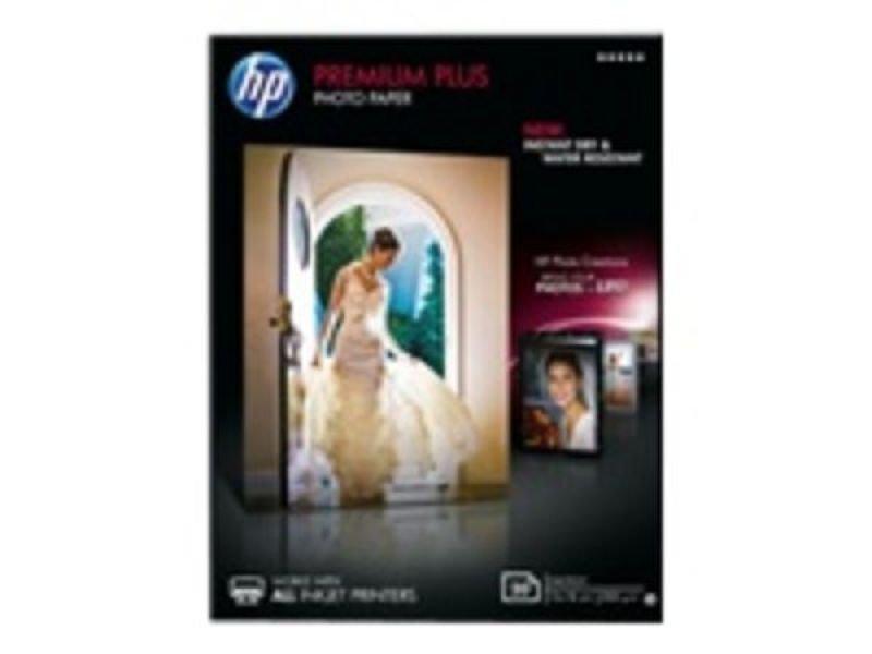 HP White Premium Plus Glossy Photo Paper (Pack of 20)