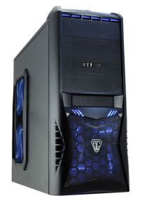 CiT Vantage Gaming Case Black HD Audio Black Interior 4 Fans Card Reader No PSU
