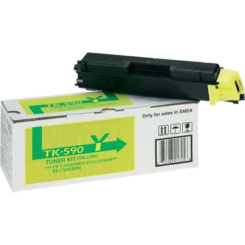 Kyocera TK 590Y Yellow Toner Cartridge