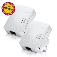 ZyXEL PLA-4201 500Mbps Mini Powerline Adaptor - Twin Pack