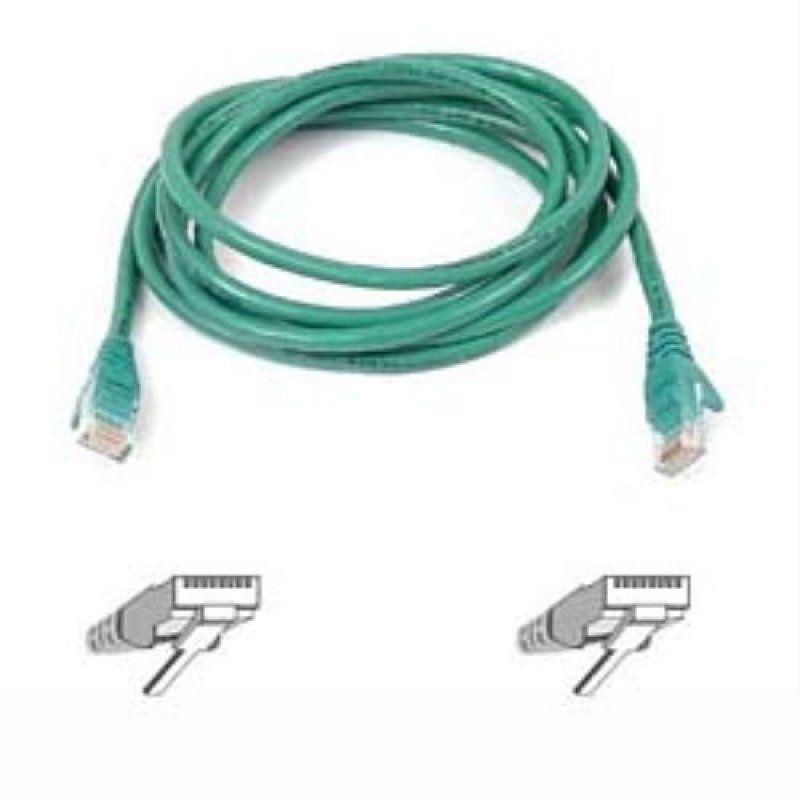 Compare cheap offers & prices of Belkin CAT5E Snagless Utp Patch Cable - Green - 1m manufactured by Belkin
