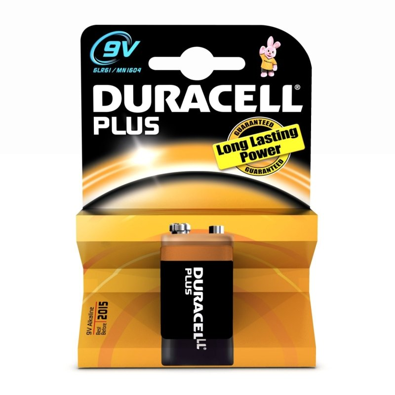 Duracell Plus 9V Battery - 1 Pack