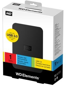 WD Elements 1TB USB 3.0 Portable  Hard Drive