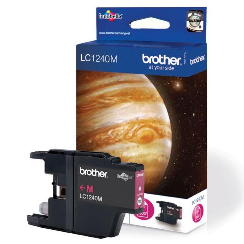 Brother LC1240M Standard Yield Magenta Ink Cartridge - 600 Pages