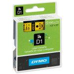 Dymo D1 Tape 12mm x7M- Black on Yellow