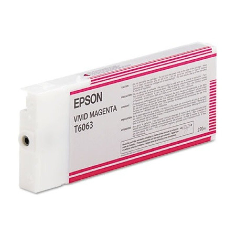 Epson T6063 Vivid Magenta Ink Cartridge