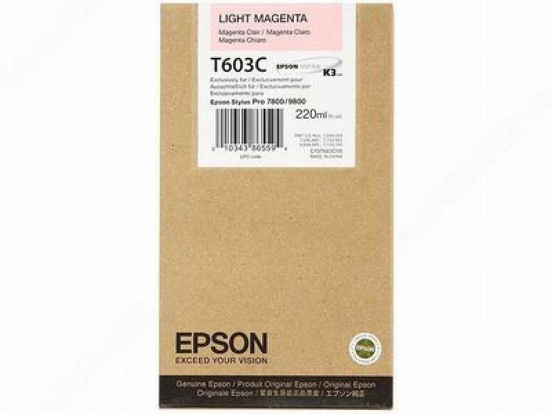 Epson T603C Light Magenta Ink Cartridge