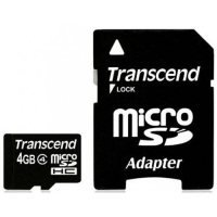 Transcend 4GB microSDHC Card with adapter