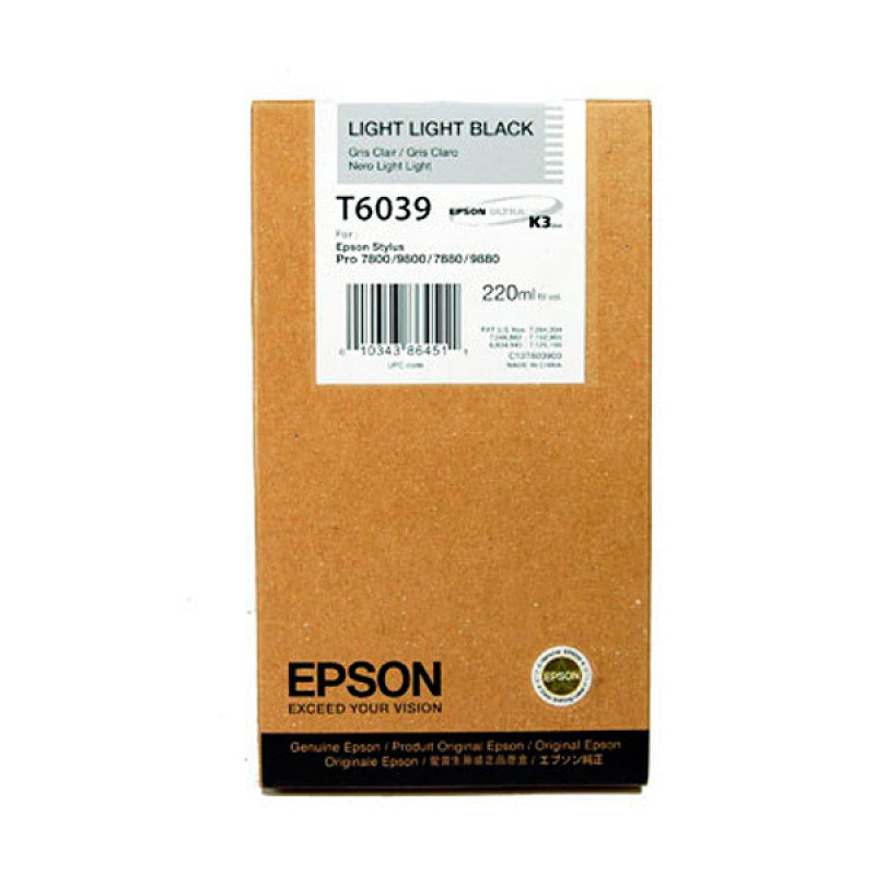 Epson T6039 Light Light Black Ink Cartridge