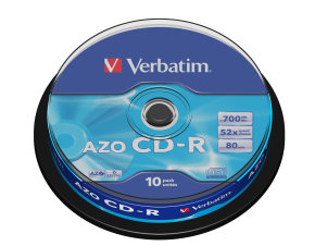 Verbatim 52x CD-R 700MB 10 Pack Spindle